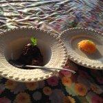 Mousse de chocolate e quindim