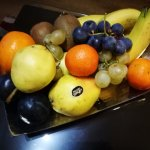 Welcome fruit platter we received--we thought this was a lovely touch