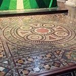 Floor in front of altar