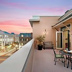 The Penthouse Terrace with views of historic Charleston, S.C.