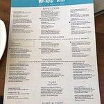 Menu items at wicked tuna restaurant