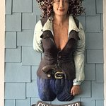 """Statue of """"Crazy Sister"""" at the attached Marina"""