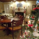 Gathering Room Christmas - Looking toward fireplace area