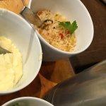 Purée de pommes de terre . Polenta ( la meilleure de tout paris:) . Riz