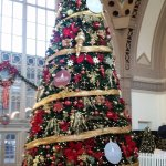 Christmas tree inside lobby of Chattanooga Choo Choo