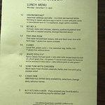 Here's the menu