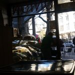 Taken from sat at the little table inside the cafe. Lovely and cosy