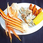 Enjoy local seafood and other specials.