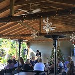 Enjoy live music mixed with great food on our heated patio.
