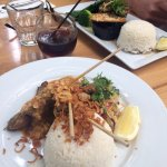 Eggplant gado gado, Beef satay, Karma cola
