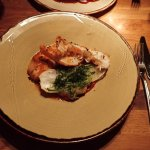Ling and langoustine main course