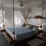 yup... suspended master bed