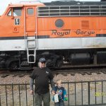 My grandson and I love trains!