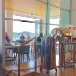 Breakfast overlooking Auckland Harbour - how pleasant!