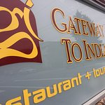 Exterior sign, Gateway To India Restaurant , 202 Fourth St, Nanaimo, British Columbia
