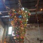 Upside down Christmas tree decoration