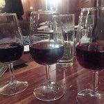 red flight of wine