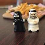 Awesome salt & pepper shakers