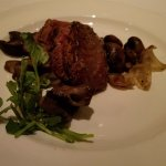 Sliced Filet mignon with mushrooms & cippolini onions topped with fig essence! Sauce on side,ple