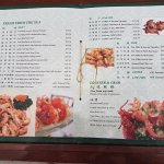 Well Laid Out Menu with Lots Of Choices
