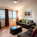 Spacious living area with flat screen TV, DVD, WiFi & Foxtel