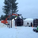 Building the snow hotel