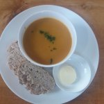 roasted roots soup with freshly made bread ...yumm
