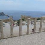Acrópolis de Lindos y el mar