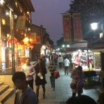 The photo depicts the lively night scenes at Hefang street