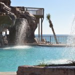 Beautiful Pool with Waterfalls and a large jucuzzii. Both overlooking the Beach.