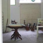 sala interna possível de visão na parte de trás , através de uma janela de vidro.