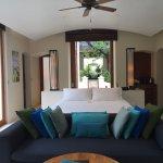 Deluxe beach villa bedroom