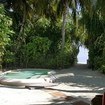 Plunge pool at deluxe beach villa
