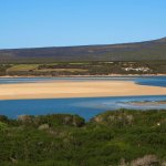 Where the Indian Ocean meets the Breede River ...a favorite spot for Kite Surfers.
