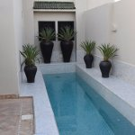 One of three plunge pools in the hotel