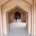Pointed arch doorways are in line of sight to the point arch mihrab.