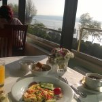 view from the dining area to the marmara sea
