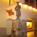 Lighthouse and Bavarian Lion Sculpture