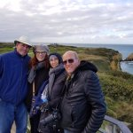 This is a photo that Bertrand took of us at Pointe du Hoc. (He's a great photographer, also!)