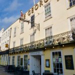 The George Hotel from the front!. Located on the High Street, 2 minutes' walk from the Castle.