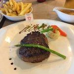 Tenderloin steak from New Zealand with pepper sauce