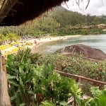 Vista do restaurante para a praia