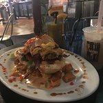 Andy Sage Fried Chicken Benedict with hash potatoes instead of mashed potatoes. Delicious! Man V