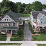 Aerial Photo of B&B and homes in the neighborhood