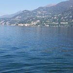 Looking across Lake Como