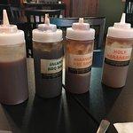 An array of hot sauces!