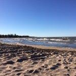 Wasaga Beach on a windy day