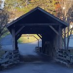 Neat little covered bridge to drive thru.
