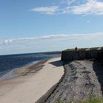 view along the barracks walls facing Moray Firth
