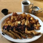 French Toast with Blueberries and Coffee